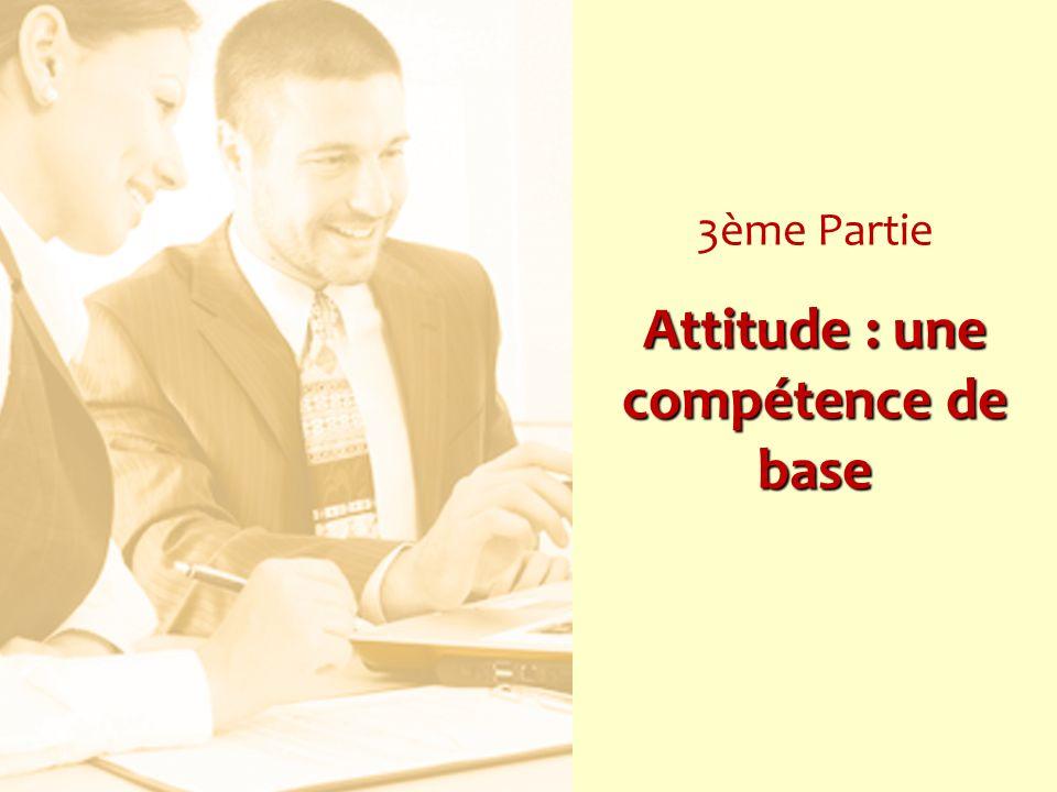 Attitude : une compétence de base 3ème Partie Attitude : une compétence de base