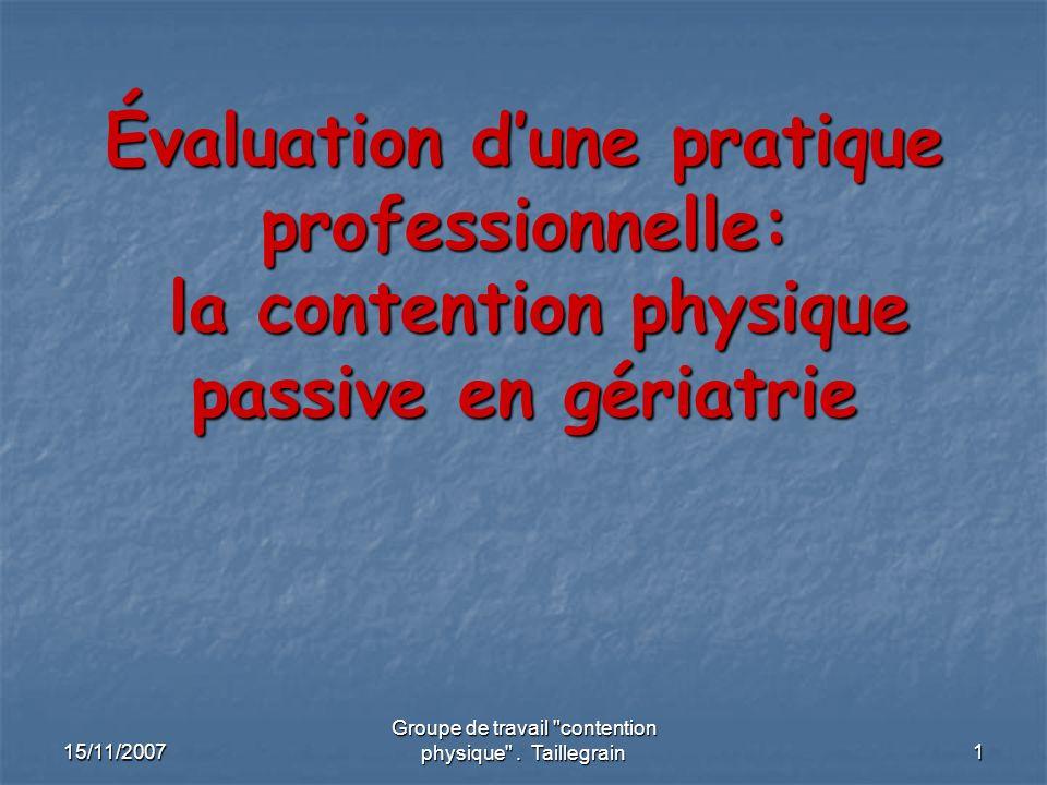 2 Introduction: Introduction: Pourquoi ce sujet.La contention physique = sujet mal connu.