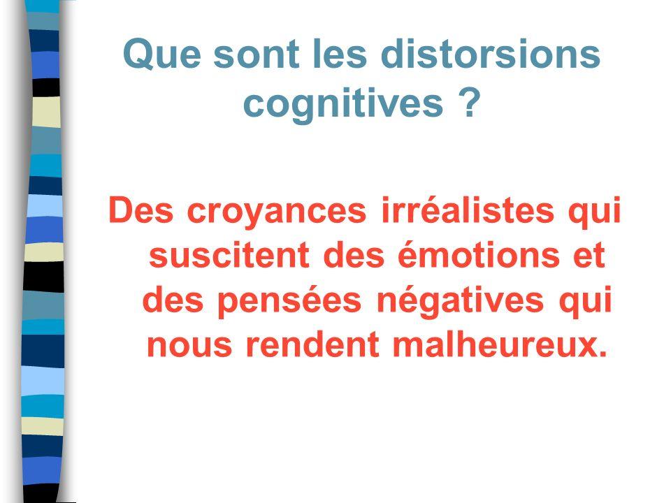 Des croyances irréalistes qui suscitent des émotions et des pensées négatives qui nous rendent malheureux. Que sont les distorsions cognitives ?
