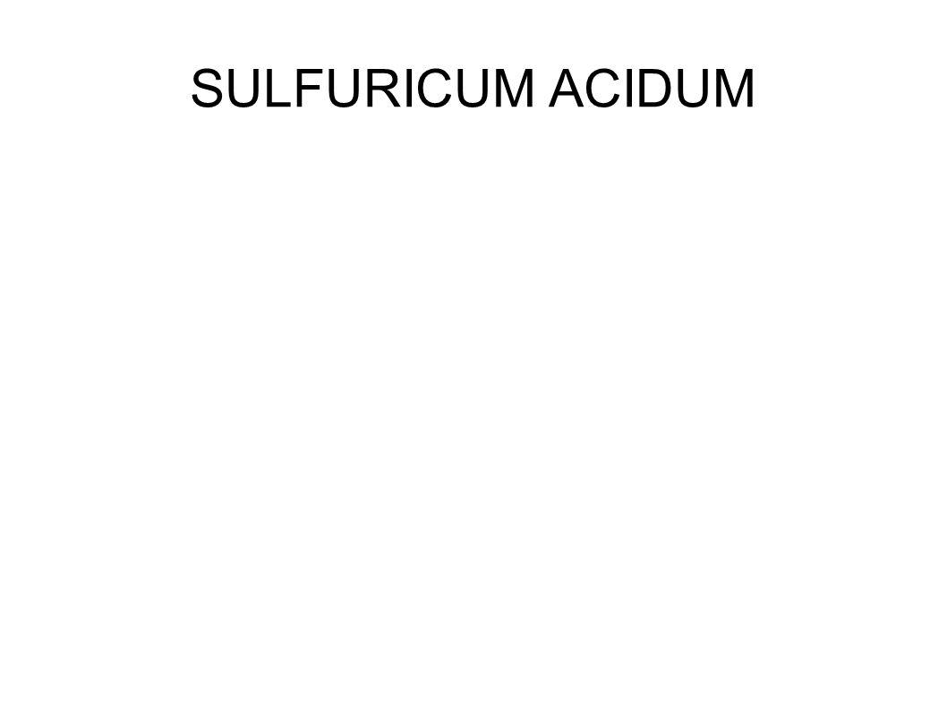 SULFURICUM ACIDUM