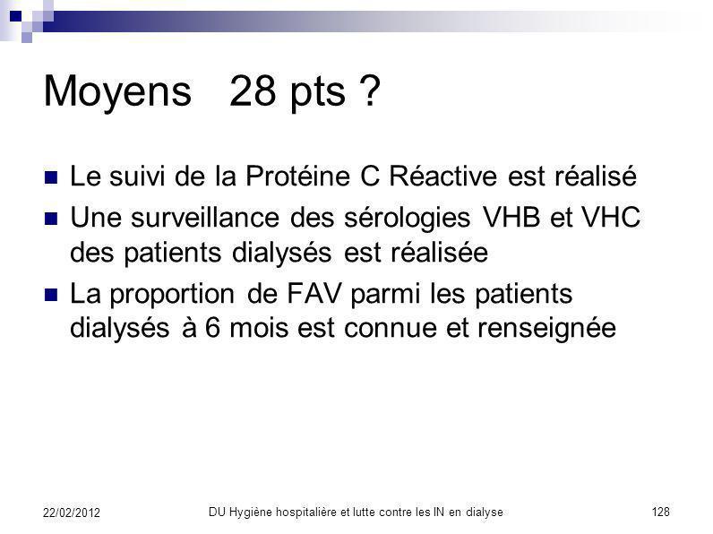 Organisation 20 pts ? 1. L'EOH est destinataire des données de surveillance des infections et bactériémies sur voies d'abord vasculaire = fistule arté