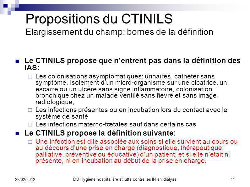 Propositions du CTINILS Elargissement du champ: éligibilité La détermination de la personne qui délivre ces soins est au cœur de ces critères. Il peut