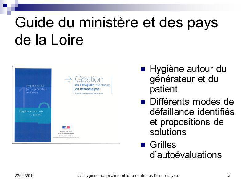 Avant toute chose Visite guidée en dialyse Et lactualité ? DU Hygiène hospitalière et lutte contre les IN en dialyse2 22/02/2012