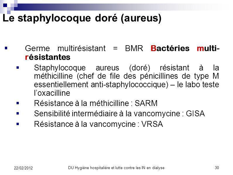 LES INFECTIONS DE LINSUFFISANT RENAL CHRONIQUE Doit-on décoloniser ? : MUPIROCINE (BACTROBAN*) en pommade nasale lefficacité lémergence de souches rés