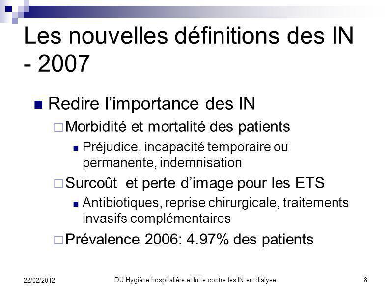 Préambule La définition des IN en dialyse La reconnaissance des infections nosocomiales (IN) Les causes, les mécanismes à lorigine des IN prévention L