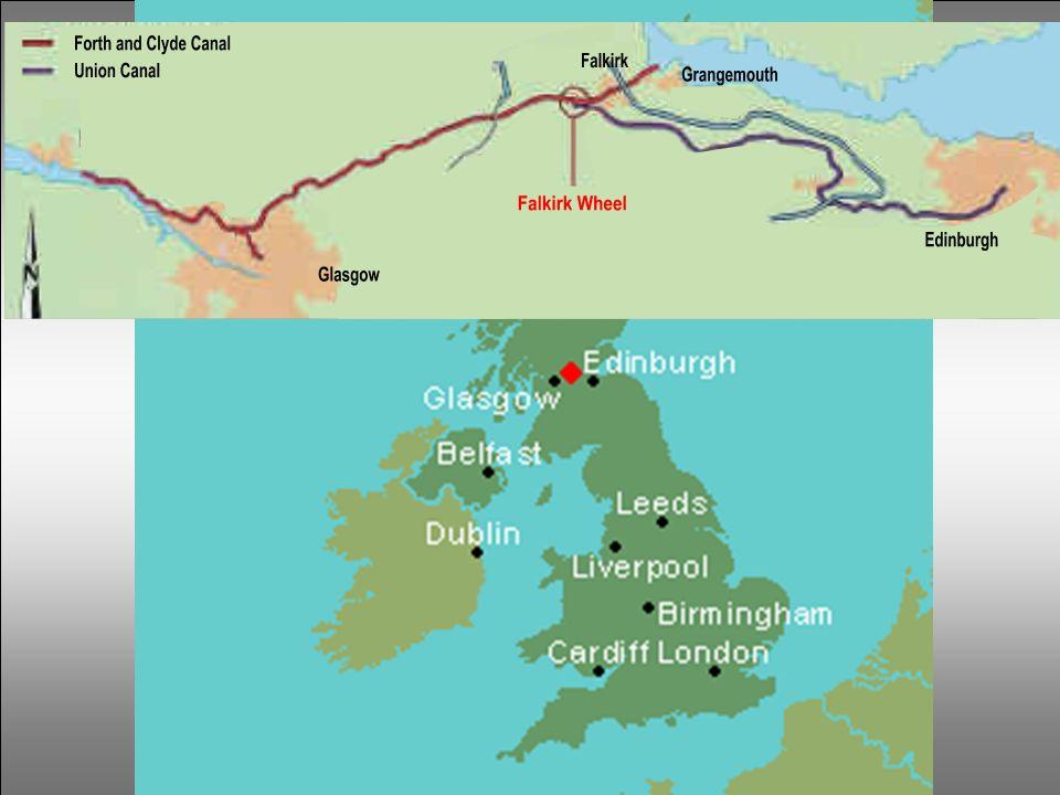 Une histoire écossaise … Entre les ports de Grangemouth et Falkirk fût creusé, en 1777, le canal de Forth & Clyde, reliant Glasgow à la côte Est de l