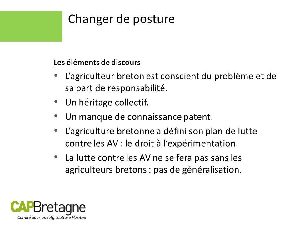 Changer de posture Les éléments de discours Lagriculteur breton est conscient du problème et de sa part de responsabilité. Un héritage collectif. Un m