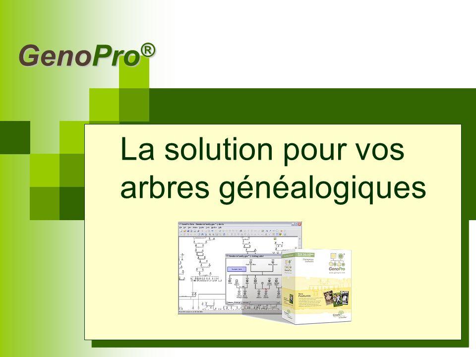 GenoPro ® Quest-ce que GenoPro ® .