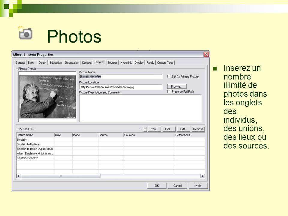 GenoMaps Dans le logiciel de GenoPro, les arbres généalogiques peuvent être divisés et liés entre eux sur de multiples pages nommées GenoMaps, et ce, dans le même document.