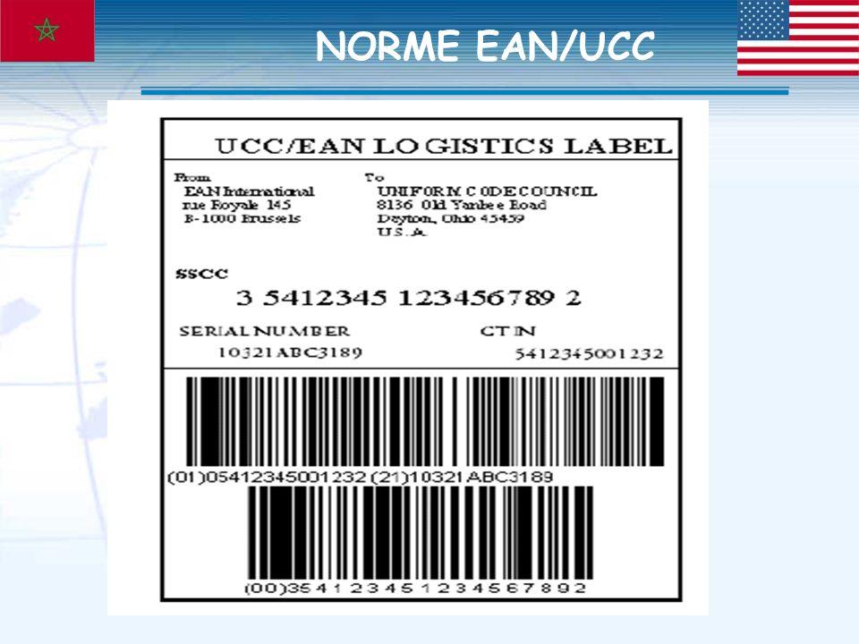 Notre métier, valoriser lexport NORME EAN/UCC
