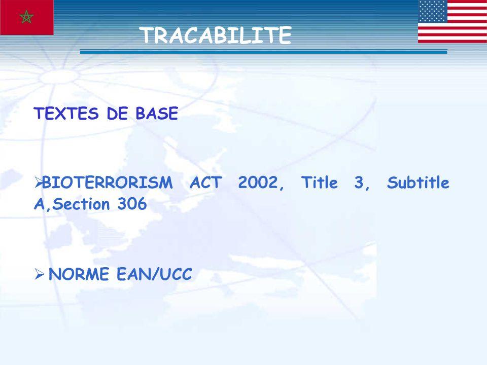 Entrée en vigueur : TPME(-10 employés) : 09.12.2006 PME(10-500 employés) : 09.06.2006 GE(+500 employés) : 09.12.2005 Opérateurs concernés : Importateurs,Conditionneurs,Transformateurs,Distributeurs, Transporteurs.