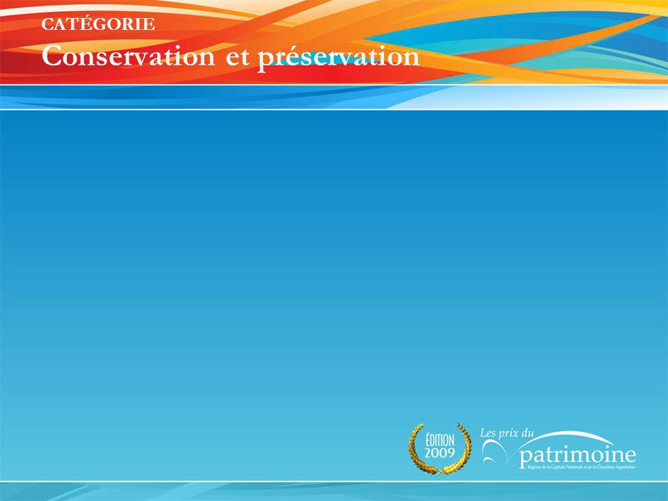 Lauréat 2009 MRC de Portneuf Conseil du patrimoine culturel de Cap-Santé Sauvegarde et mise en valeur du site historique de Sainte-Famille