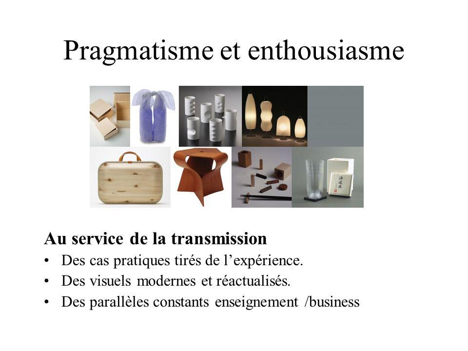 Pragmatisme et enthousiasme Au service de la transmission Des cas pratiques tirés de lexpérience. Des visuels modernes et réactualisés. Des parallèles
