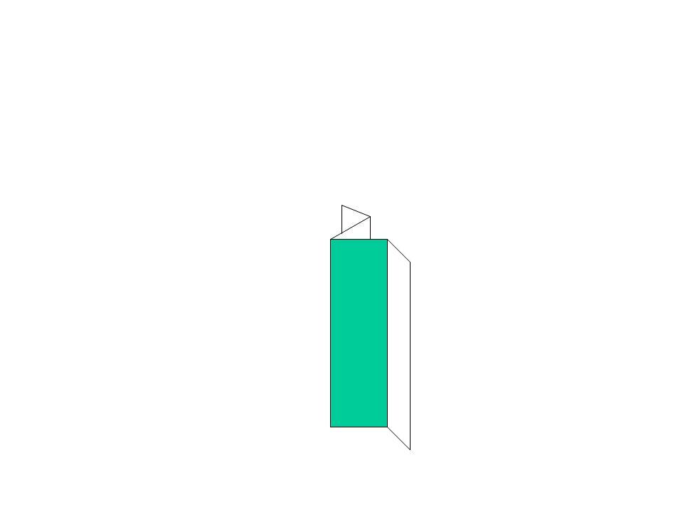 Plier les coins de la partie centrale double.
