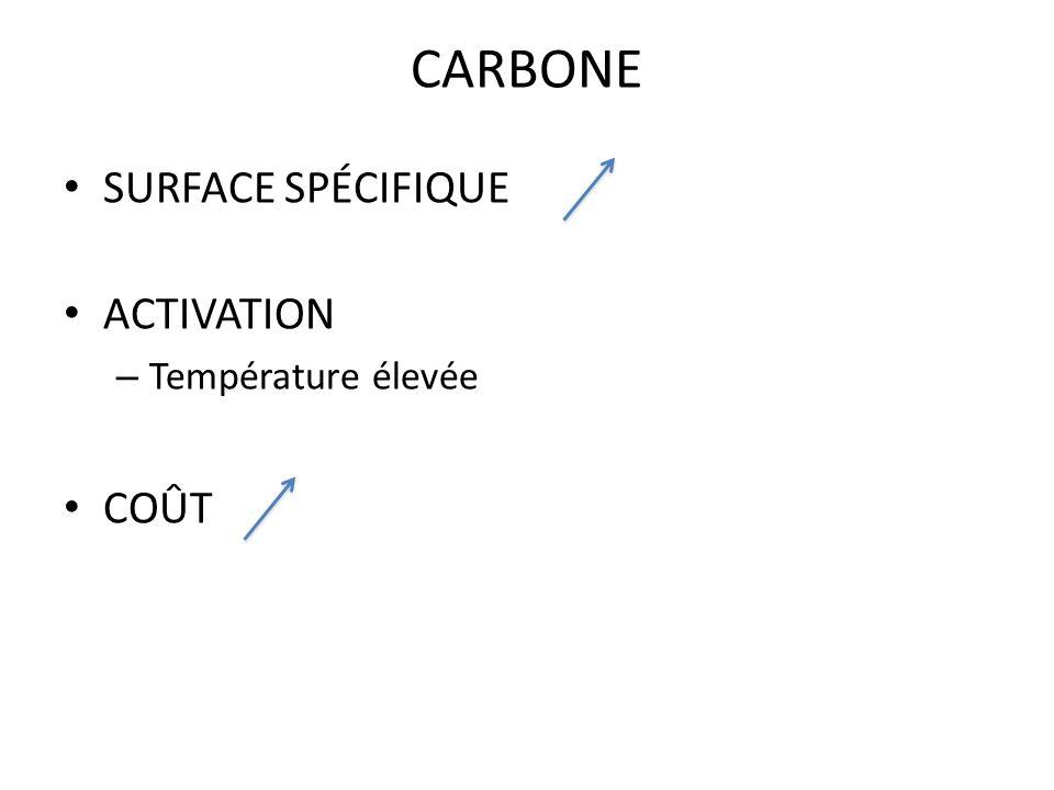 CARBONE SURFACE SPÉCIFIQUE ACTIVATION – Température élevée COÛT