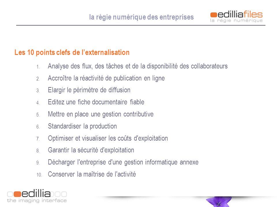 1. Analyse des flux, des tâches et de la disponibilité des collaborateurs 2. Accroître la réactivité de publication en ligne 3. Elargir le périmètre d