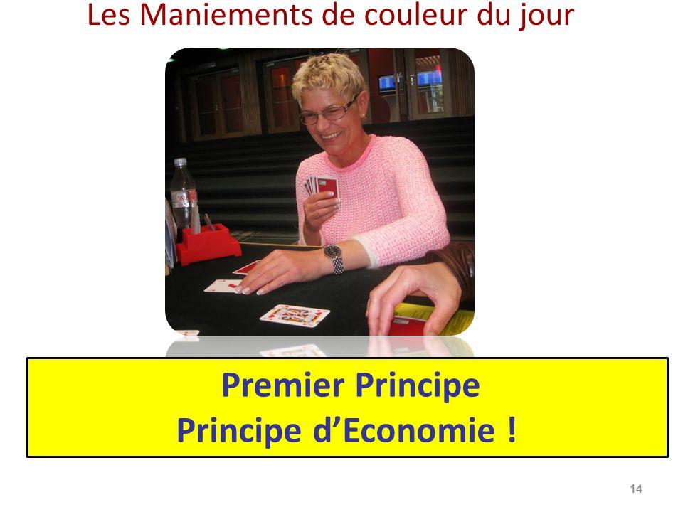 Les Maniements de couleur du jour 14 Premier Principe Principe dEconomie !