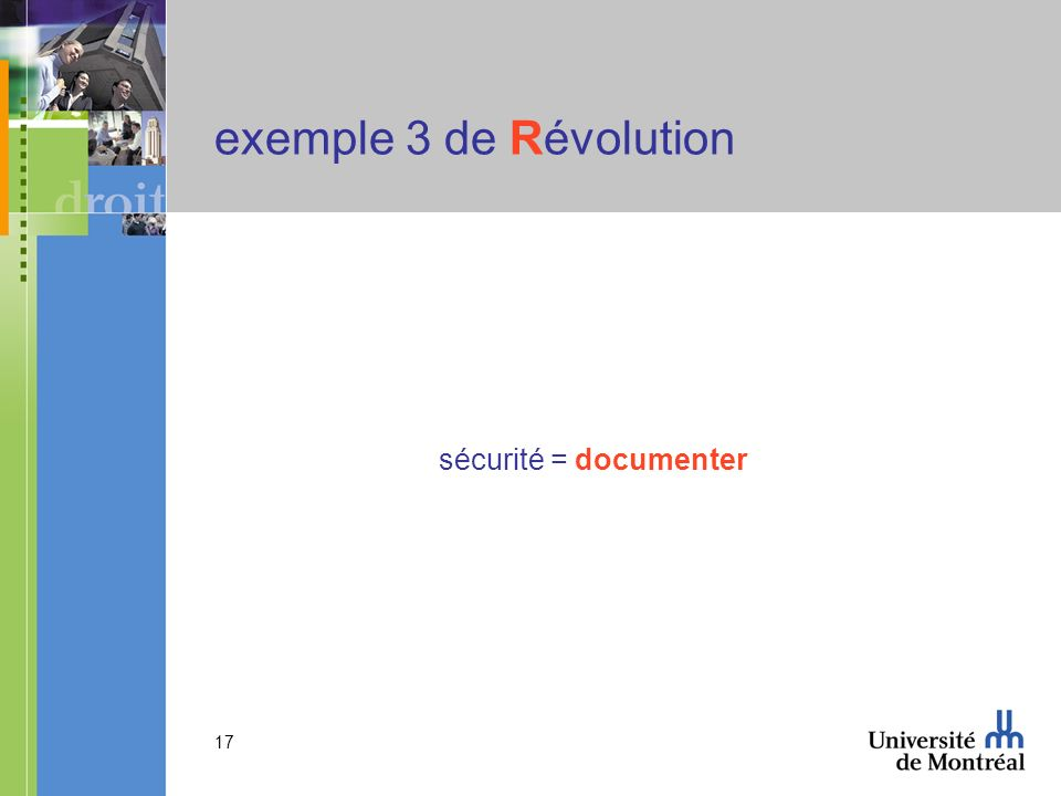 17 exemple 3 de Révolution sécurité = documenter