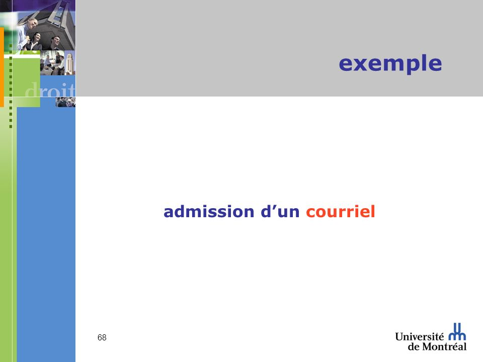 68 exemple admission dun courriel