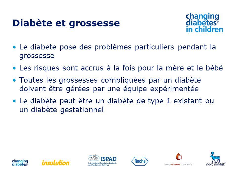 Diabète et grossesse Le diabète pose des problèmes particuliers pendant la grossesse Les risques sont accrus à la fois pour la mère et le bébé Toutes
