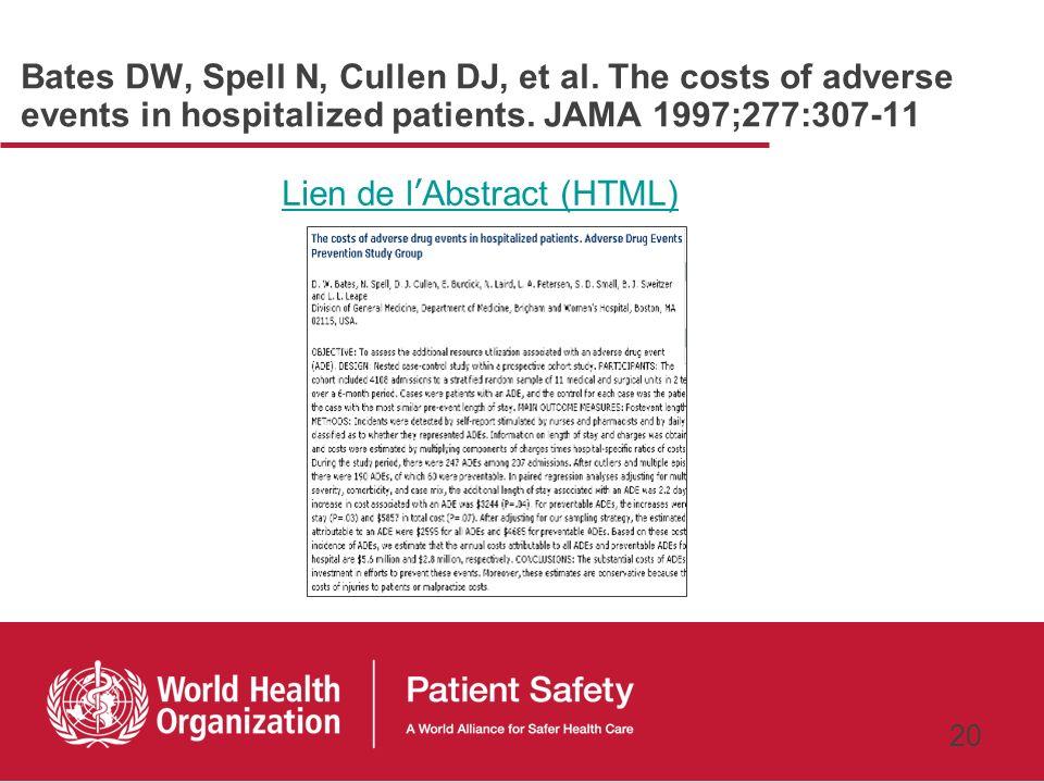 19 Résultats économiques Identification des coûts Rapport coût-efficacité QALY (nombre dannées de vie ajustées sur la qualité de vie) DALY (nombre dan