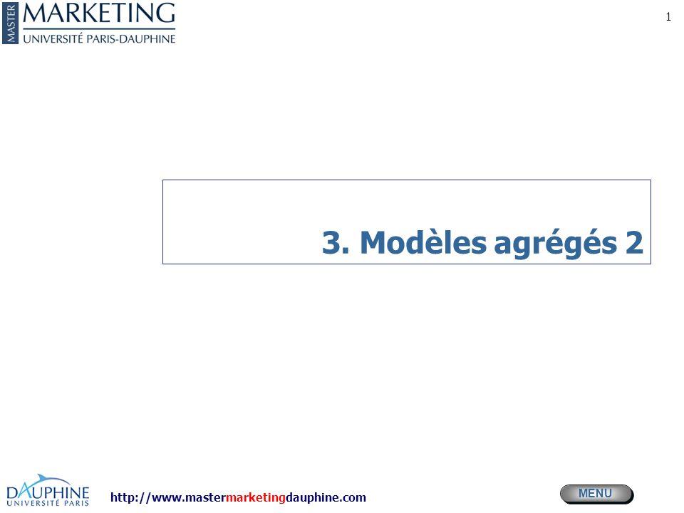 http://www.mastermarketingdauphine.com MENU 1 3. Modèles agrégés 2