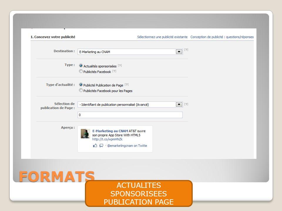 FORMATS ACTUALITES SPONSORISEES PUBLICATION PAGE