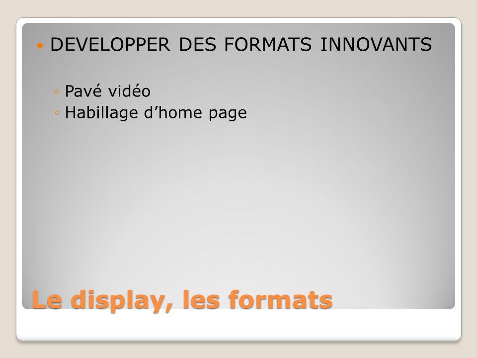 Le display, les formats DEVELOPPER DES FORMATS INNOVANTS Pavé vidéo Habillage dhome page