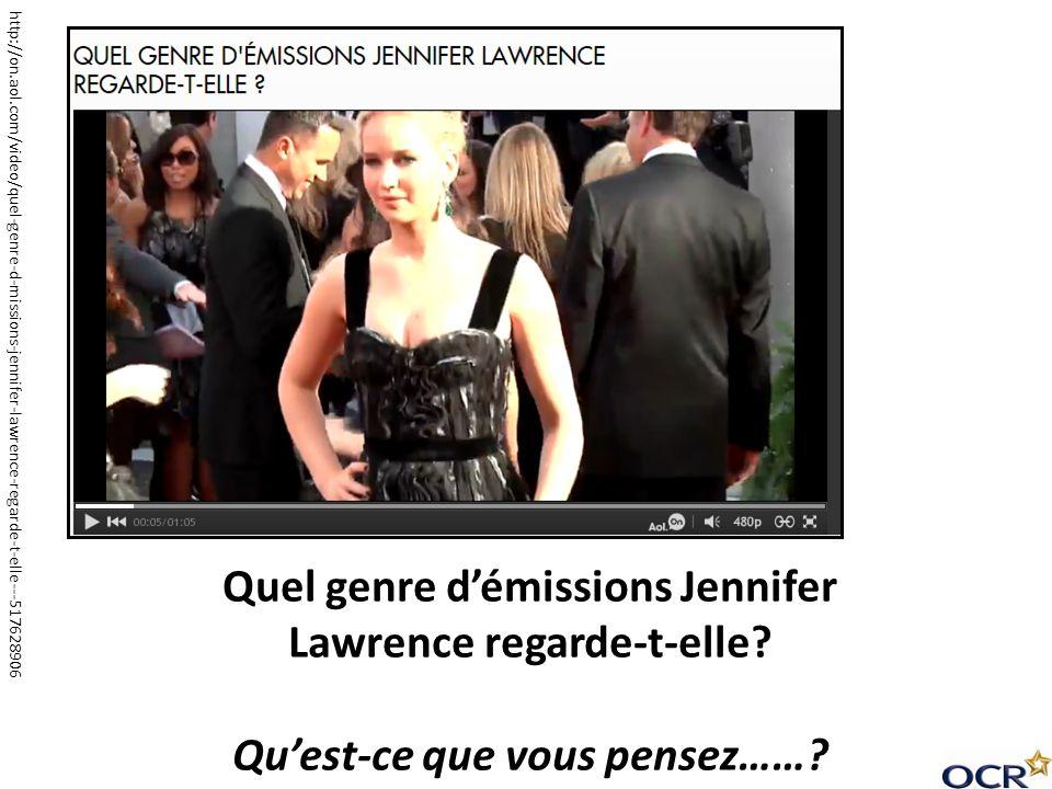 http://on.aol.com/video/quel-genre-d-missions-jennifer-lawrence-regarde-t-elle---517628906 Quel genre démissions Jennifer Lawrence regarde-t-elle? Que