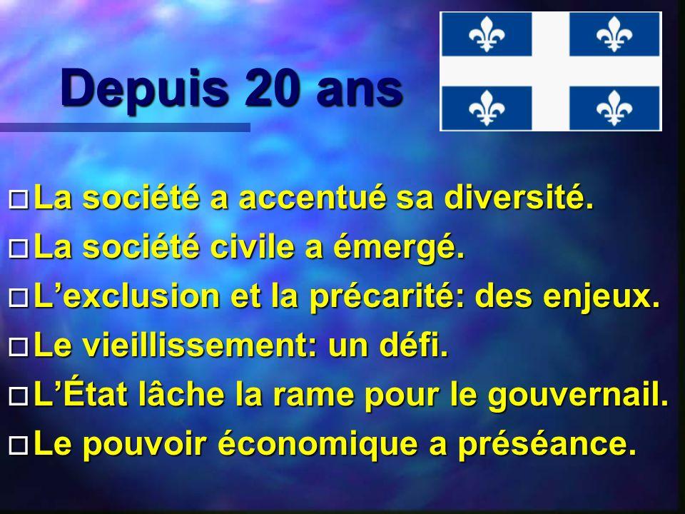 Le loisir au cœur de la qualité individuelle et collective de vie des québécois Mais il faut sen occuper