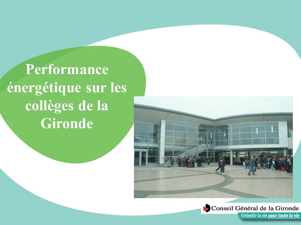 Performance énergétique sur les collèges de la Gironde
