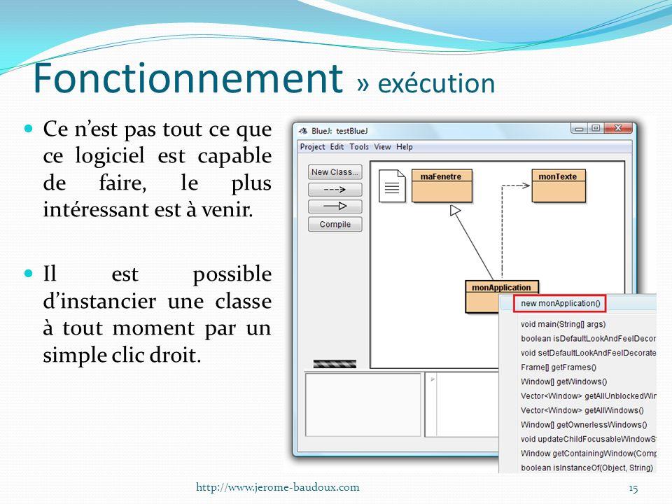 Fonctionnement » exécution Ce nest pas tout ce que ce logiciel est capable de faire, le plus intéressant est à venir. Il est possible dinstancier une