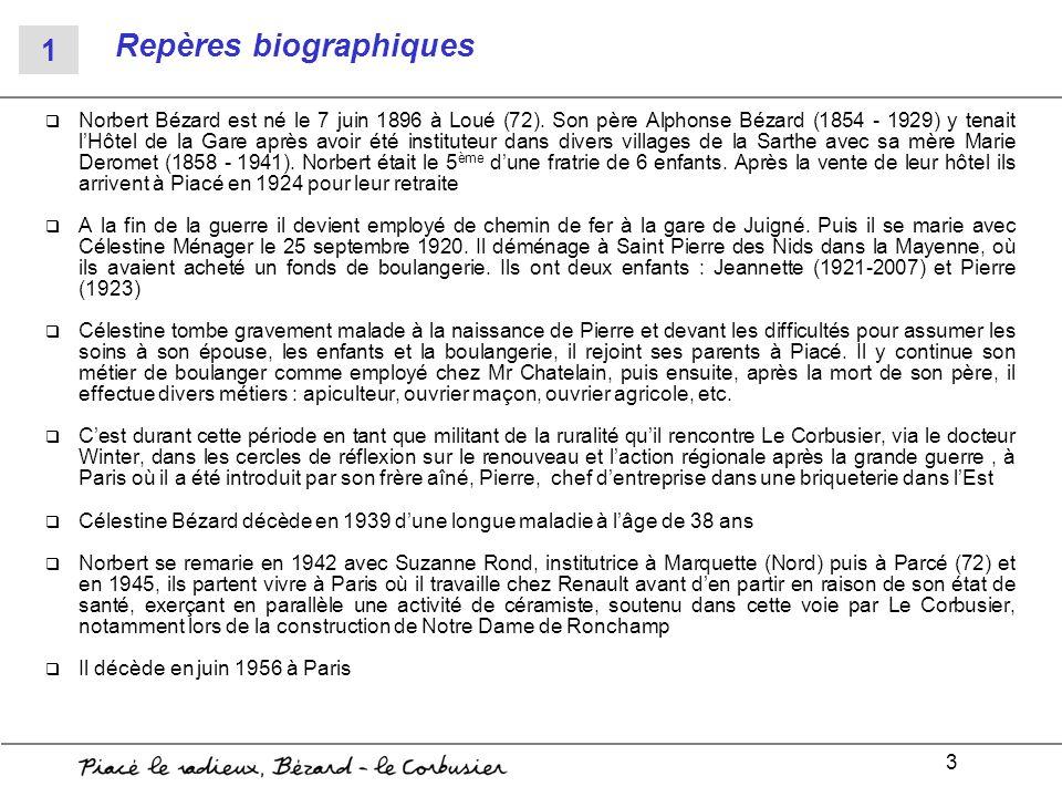 3 Repères biographiques Norbert Bézard est né le 7 juin 1896 à Loué (72). Son père Alphonse Bézard (1854 - 1929) y tenait lHôtel de la Gare après avoi
