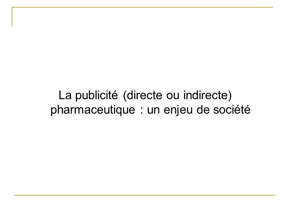 La publicité (directe ou indirecte) pharmaceutique : un enjeu de société