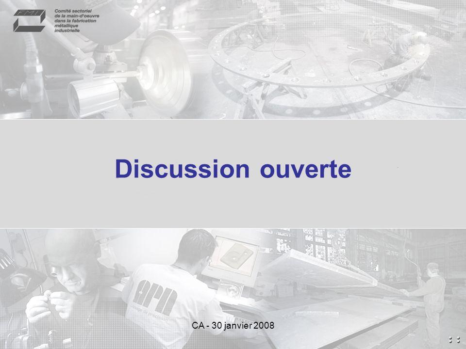 CA - 30 janvier 2008 Discussion ouverte