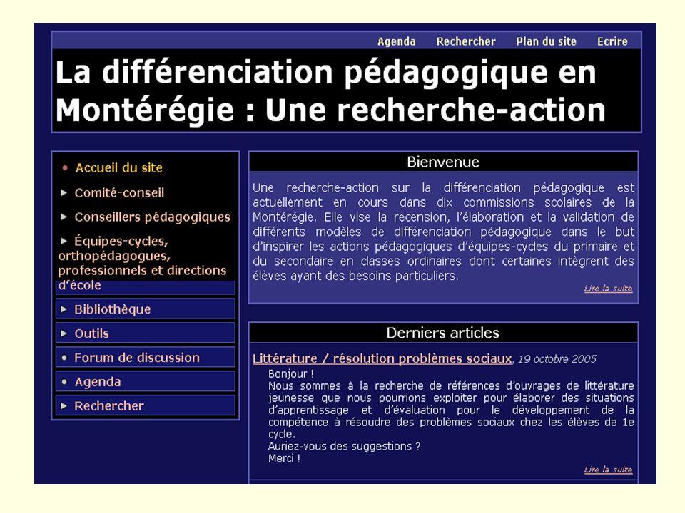 76 Adresse actuelle du site WEB http://portfolio.cstrois-lacs.qc.ca:8080/diff/