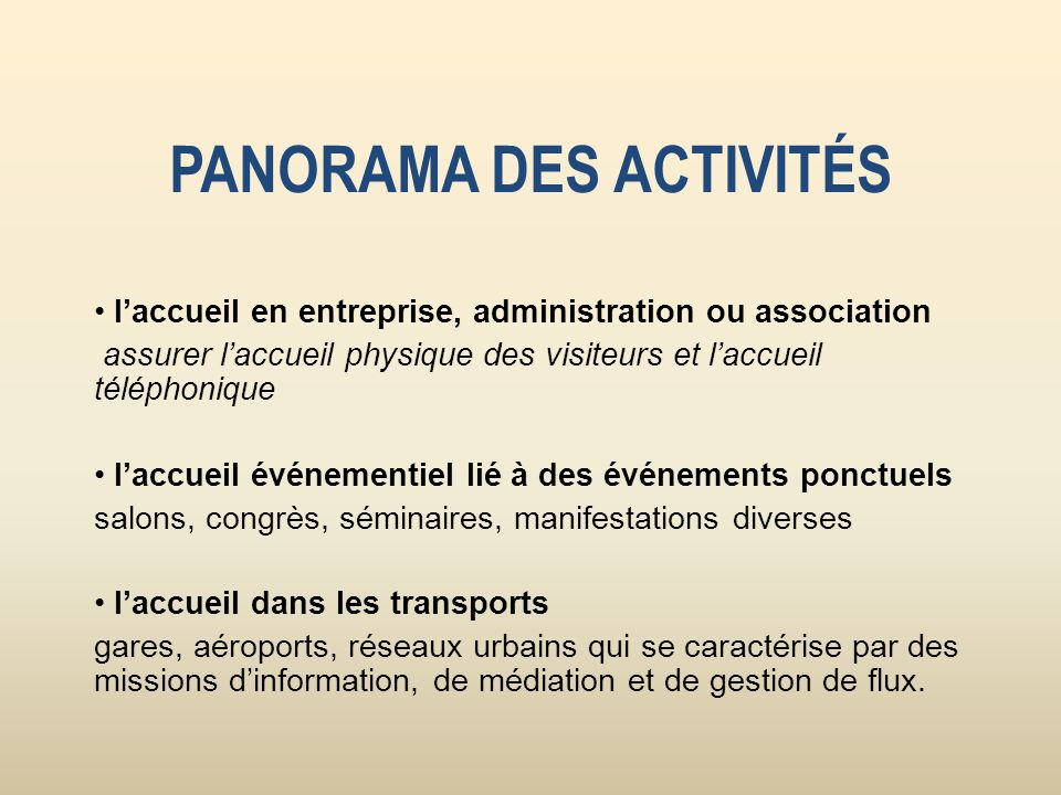 TYPES DORGANISATIONS Banques, services de santé, tourisme, culture, La Poste, transports collectifs, immobilier, grande distribution ou hôtels restaurants.