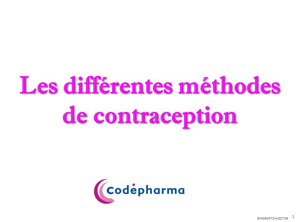 GYN09007 DIA OCT 09 Les différentes méthodes de contraception 1