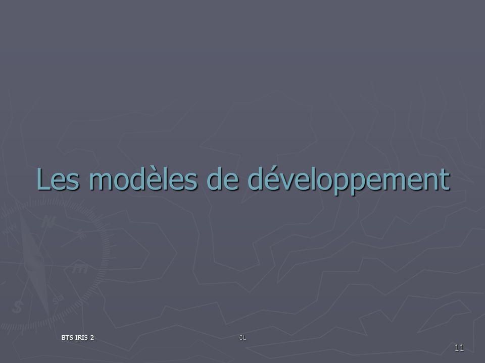 Les modèles de développement BTS IRIS 2GL 11