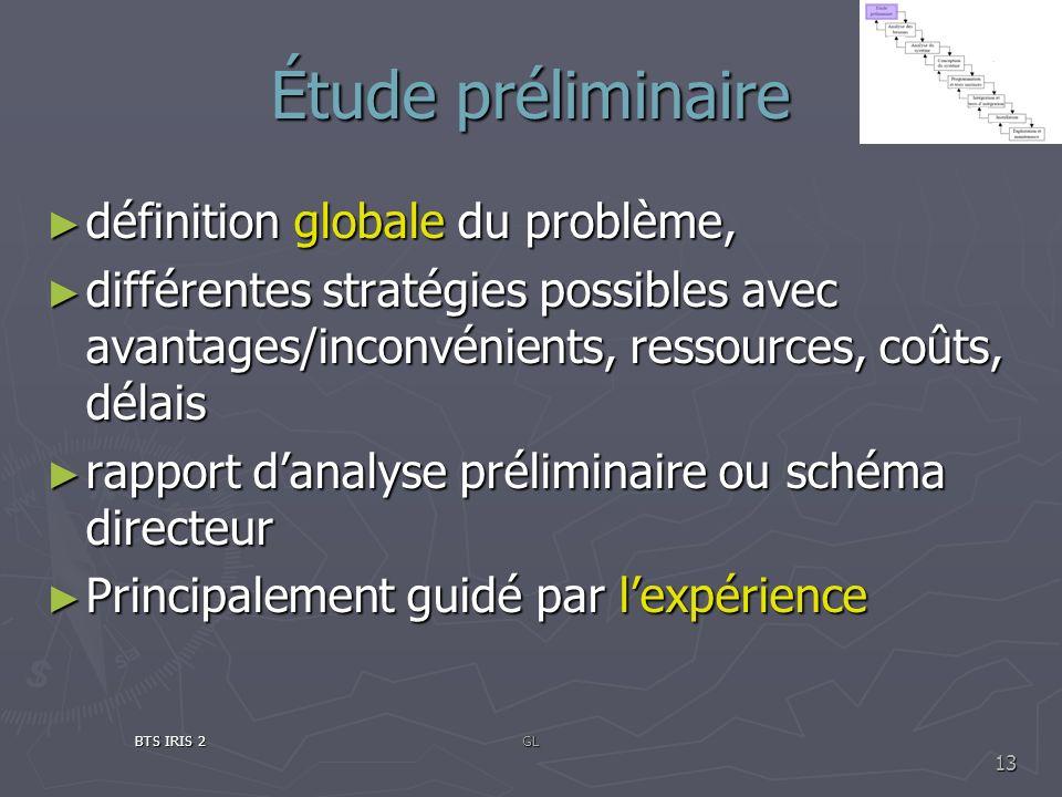 Étude préliminaire définition globale du problème, définition globale du problème, différentes stratégies possibles avec avantages/inconvénients, ress