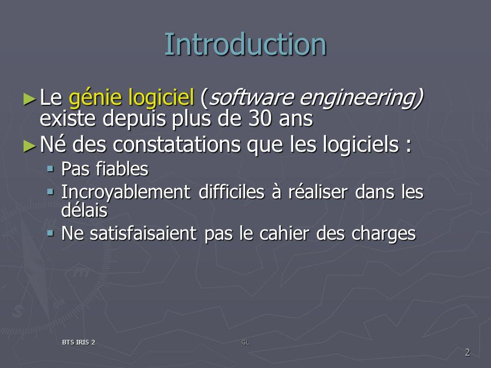 Introduction Le génie logiciel (software engineering) existe depuis plus de 30 ans Le génie logiciel (software engineering) existe depuis plus de 30 a