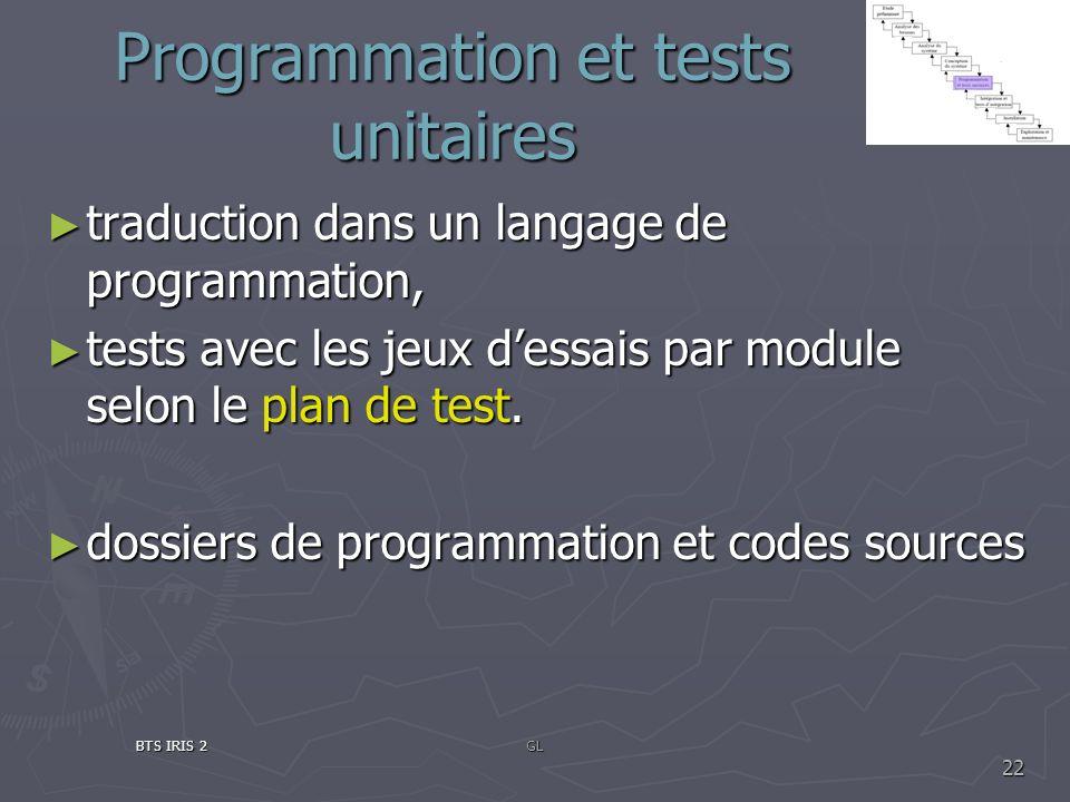Programmation et tests unitaires traduction dans un langage de programmation, traduction dans un langage de programmation, tests avec les jeux dessais