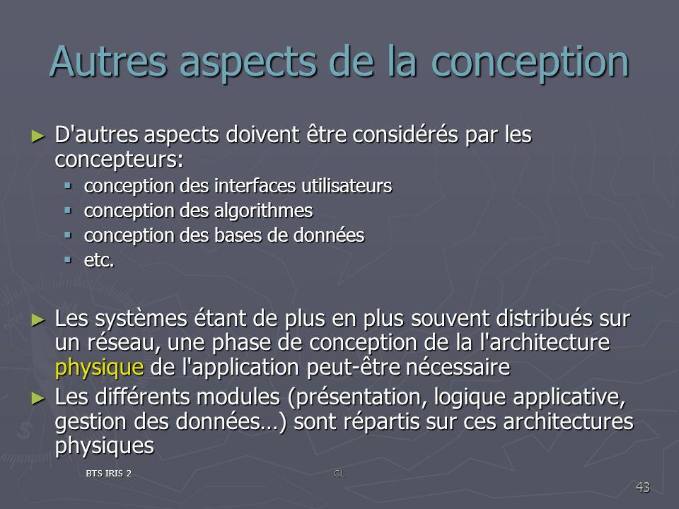 Autres aspects de la conception D'autres aspects doivent être considérés par les concepteurs: D'autres aspects doivent être considérés par les concept
