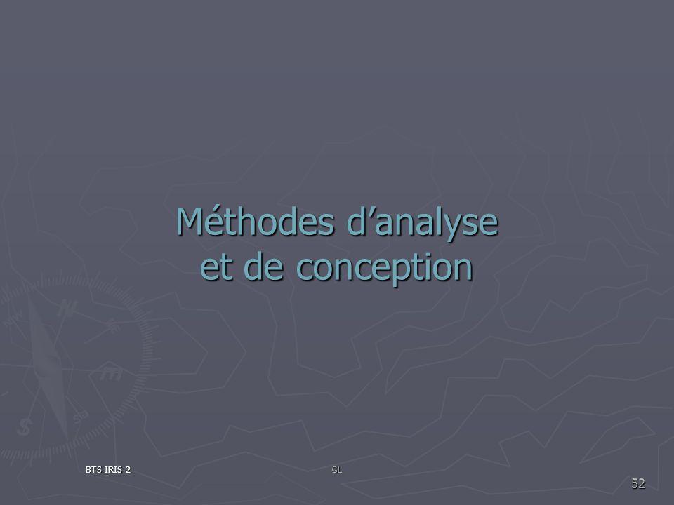 Méthodes danalyse et de conception BTS IRIS 2GL 52