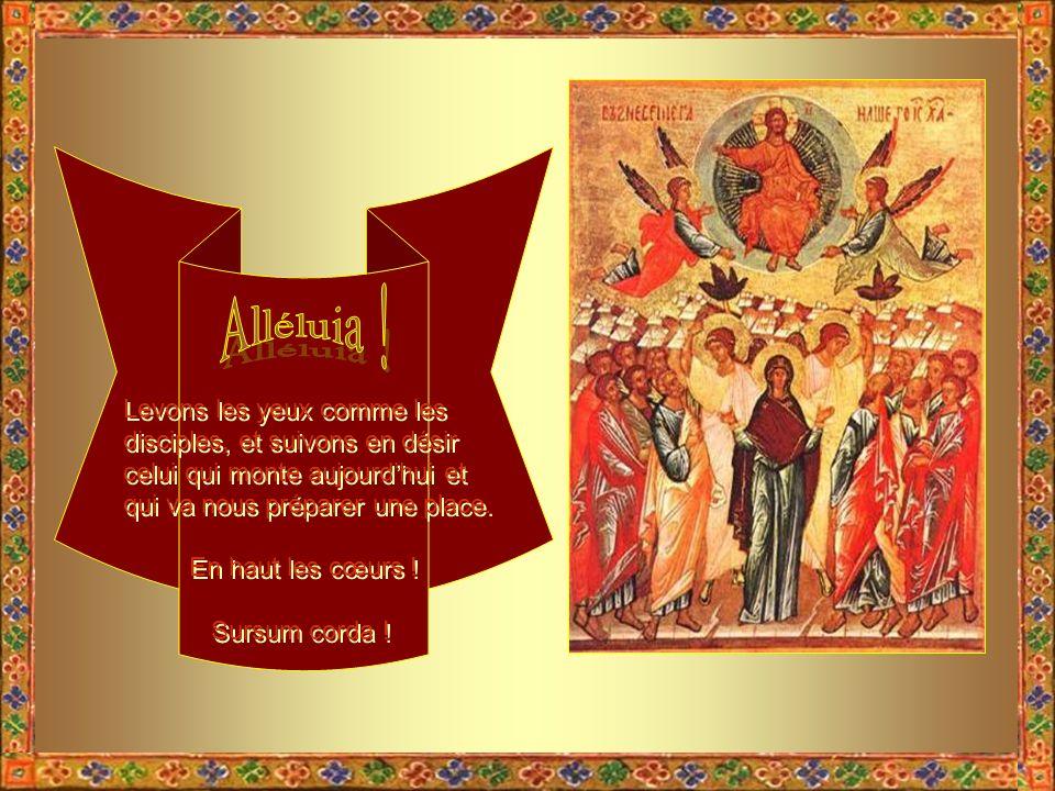 Sois donc béni, ô cierge de la Pâque, colonne lumineuse, qui nous réjouis par ta flamme joyeuse et brillante ! Tu nous parles de Jésus !