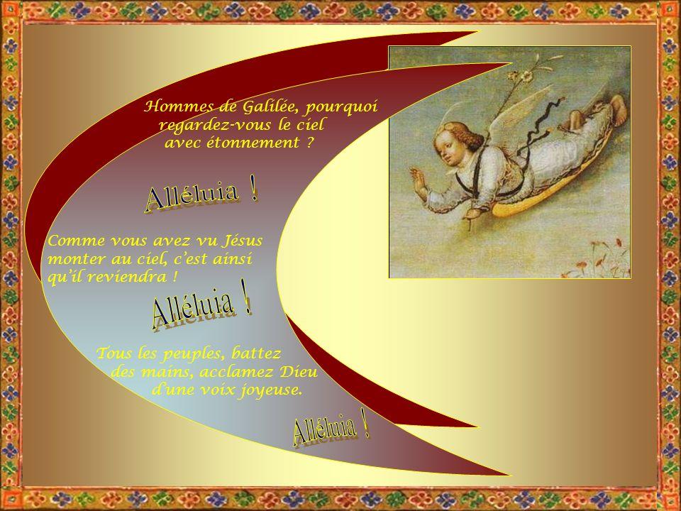 Il est Roi par toute la terre. Jouez pour Dieu avec tout votre art. Dieu règne sur les nations, il siège sur son trône de sainteté. Les princes des pe