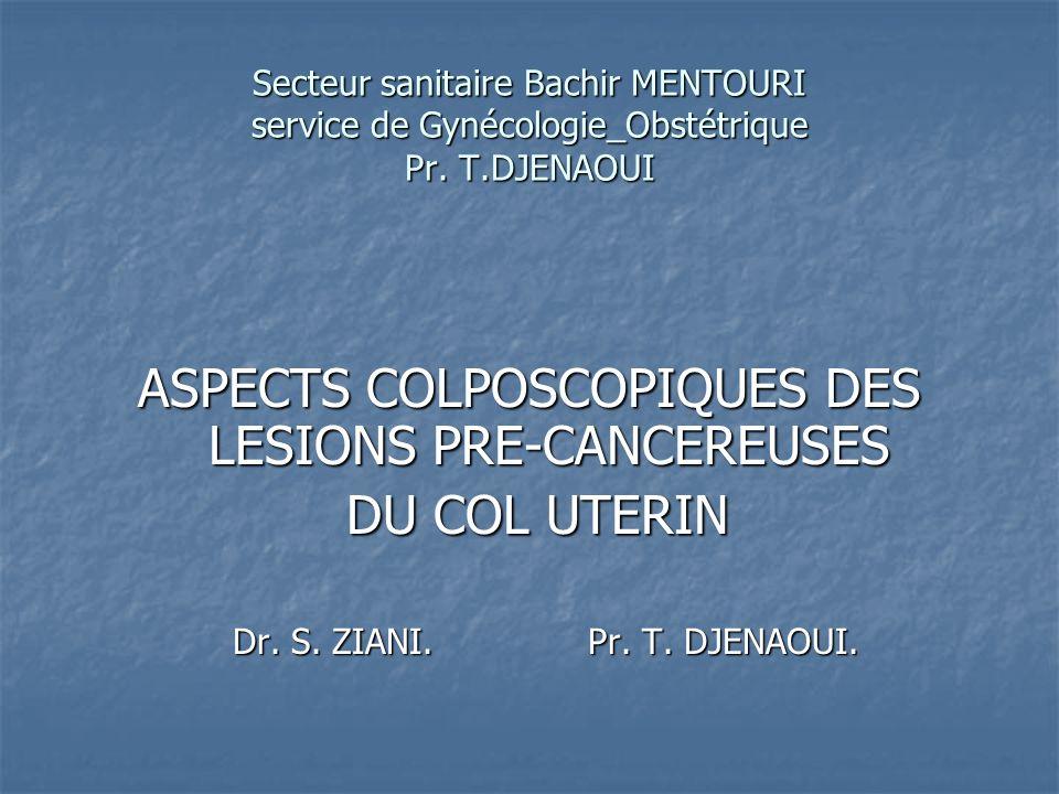 Introduction Les cancers épidermoides invasifs du col utérin sont habituellement précédés durant une longue période par des modifications strictement localisées à lépithélium, sans atteinte du tissu conjonctif.