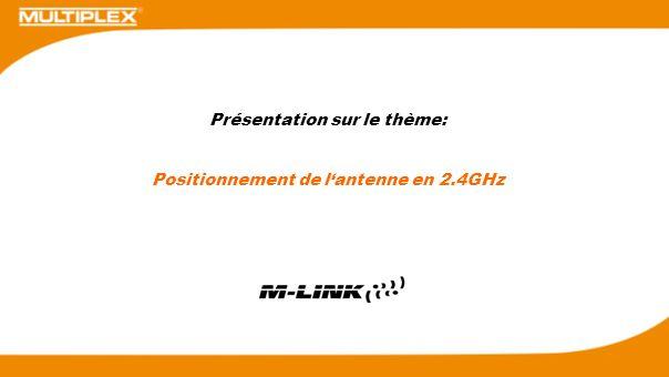 Présentation sur le thème: Positionnement de lantenne en 2.4GHz