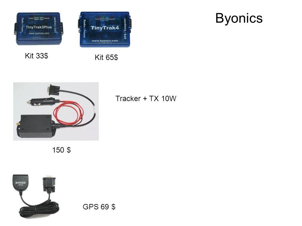 Kit 33$ GPS 69 $ Kit 65$ 150 $ Tracker + TX 10W Byonics