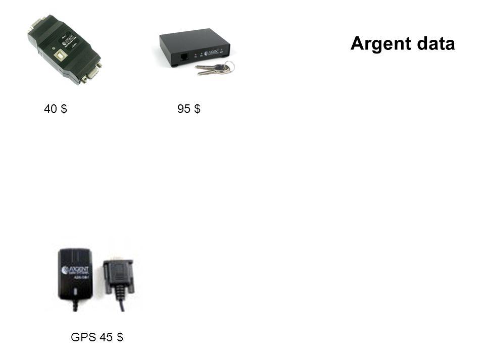 Argent data 40 $95 $ GPS 45 $